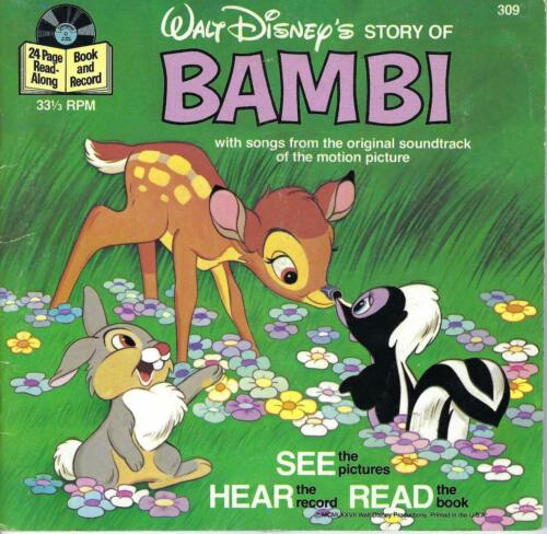 Disney  Record with story book -   Bambi  1978