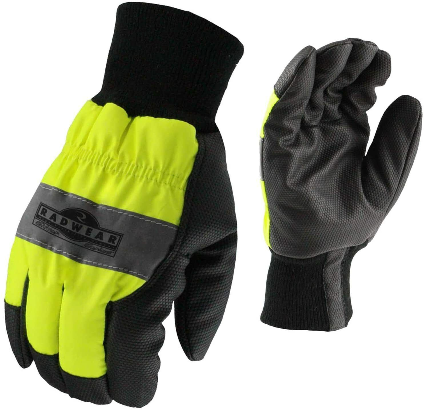 Radians RWG800 Radwear Silver Series Hi-Visibility Thermal Lined Gloves, MEDIUM Business & Industrial