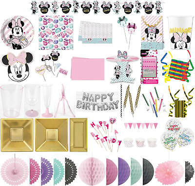Kinder-Geburtstag Premium Party Deko Feier Fete Motto Minnie Mouse