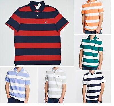 NWT Men's Nautica Stripe Classic Fit Short Sleeve Polo Shirt