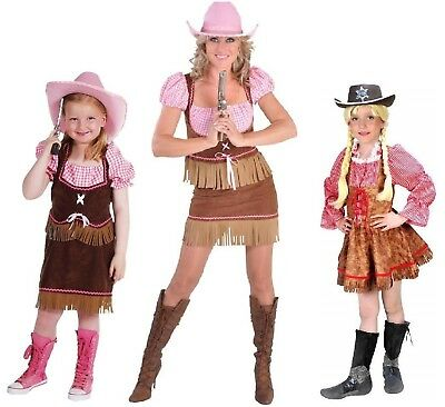 Sexy Cow Girl Kostüm Kleid Wilder Westen Saloon Cowgirl Cowboy Saloonlady - Sexy Cow Girl Kostüm