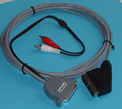 AMIGA RGB SCART AUDIO-VIDEO KABEL 2 Meter