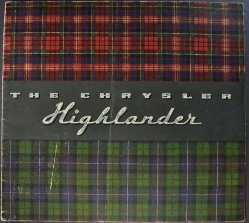 1941 Chrysler Highlander Brochure Windsor New Yorker Convertible Coupe Original