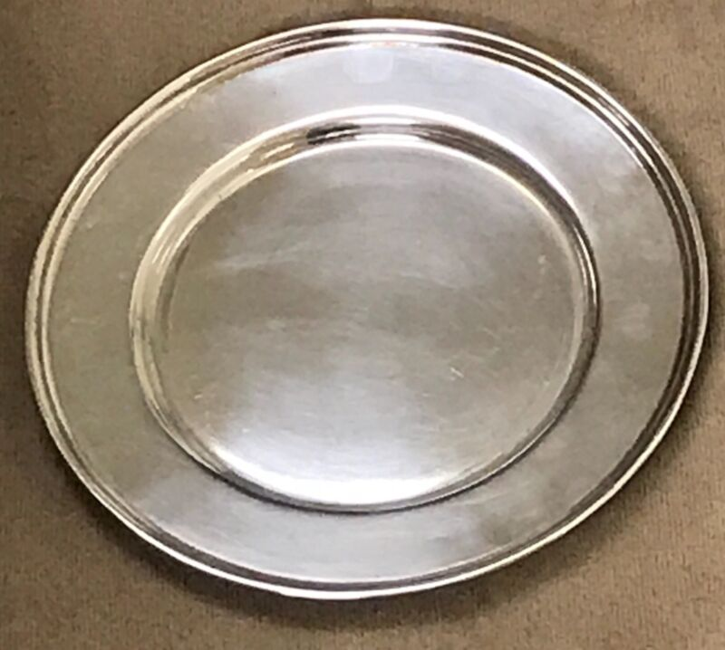 Set of 6 Vintage YUCHANG Sterling Silver Bread & Butter Plates, circa 1920