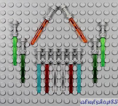 LEGO Star Wars - 12x Lightsaber Translucent Orange Green Blue Red Frosted Trans