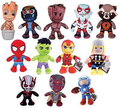 "NEW 8"" 10"" 12"" MARVEL PLUSH AVENGERS SOFT TOY HULK SPIDERMAN IRON MAN SUPERHERO"