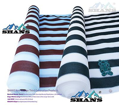SHANS Stripes 90% UV Fabric Outdoor Garden Canopy Shade Sail DIY With Clips Free
