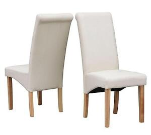 Beau Faux Leather Dining Chairs