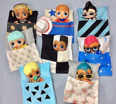 BOYS 💙 Sleeping Bag Beds made for LOL Boy DOLLs 8 pc set Accs. globe king door