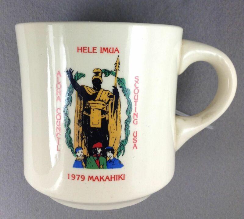 Boy Scout Coffee Mug 1979 Makahiki Hele Imua Aloha Council Scouting USA [MUG-264