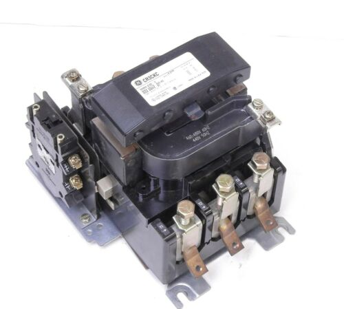 GE General Electric 75HP Magnetic Contactor 600VAC 90AMPS 3PH CR3CKC Coil 460VAC