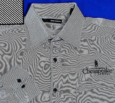 Terrific L Greg Norman Black White Twill Fabric Chesapeake Energy Logo Shirt