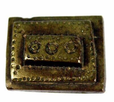 Art African - Antique Weight Akan - Goldweight - Coin 43778... - 3 CMS 48 Grs