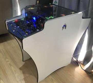 Sitdown arcade machine