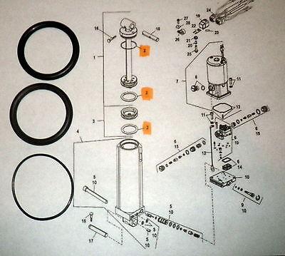 REBUILD KIT: Evinrude Johnson Trim Tilt 25 35 40 48 50 HP ... on