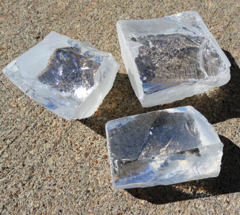 DIAMOND WHITE AAAAA 500 CARAT CUBIC ZIRCONIA FACET ROUGH USA