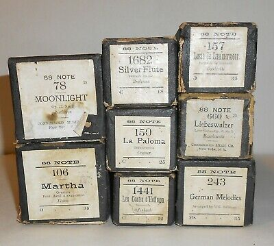 Sousa-Fair Condition,choose 1 AS IS Wissner Imperial Player Piano Rolls: QRS