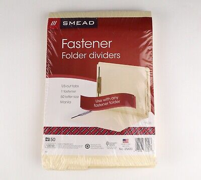 Smead End-tab Folder Dividers W Fasteners Letter Size Manila 50 Pack No. 35600