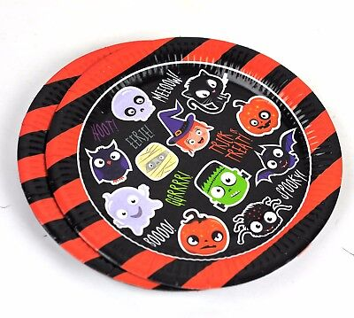 Halloween Spooky Smiley Pals Party Plates, Pack of 8