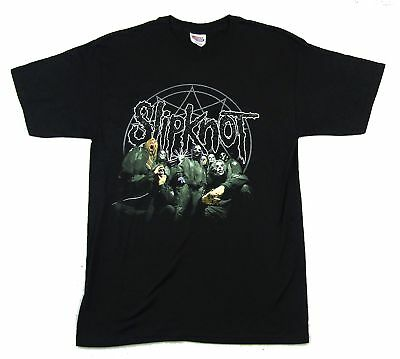 Slipknot Green Suits Offset Logo Black T Shirt New Official Band Merch](Slipknot Suits)