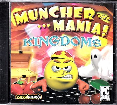 """Computer Games - NEW! """"MUNCHER MANIA KINGDOMS"""" PC CD-ROM computer game / Everyone"""