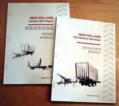 New Holland 1034 Stackliner Bale Wagon Operators And Servicerepair Manual