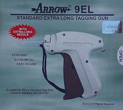 Arrow Extra Long Neck Needle Tag Gun 1000 2 Barbs Clothing Price Label Tagger