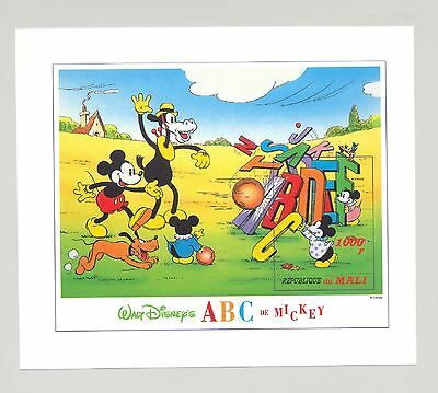 Mali #800 Disney, Mickey, ABC 1v S/S Imperf Proof