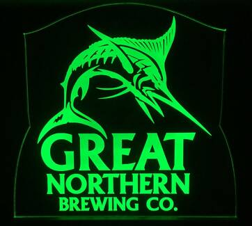 Great Northern LED Remote Control Sign,Bar,Mancave,Light
