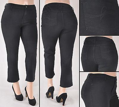 NWT Women Plus Size Stretch Black Denim Jeans