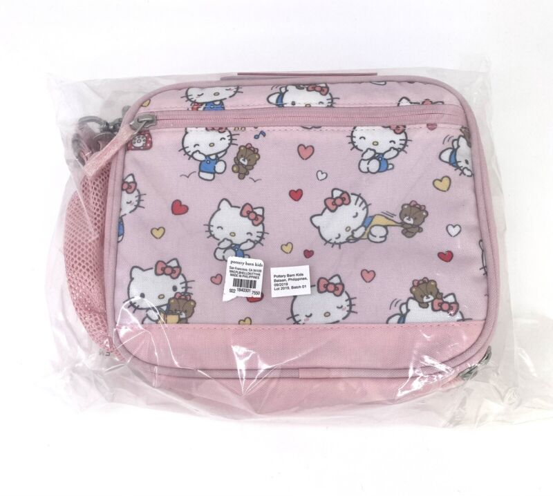 Pottery Barn Kids Hello Kitty Cold Pack Lunch Bag Sanrio Cute New Rare HTF Pink