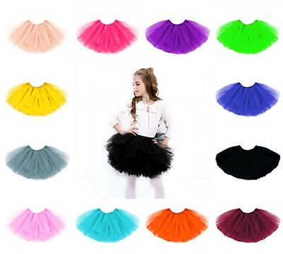 Kinder Tütü Tutu Ballettrock Tüllrock Petticoat Ballettkleid Rock Ballett 3Lagig