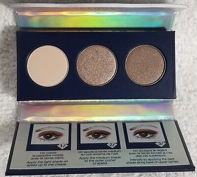 Sephora IN THE BLINK OF AN EYE 3 Eyeshadow Palette Beige Chocolate Taupe New