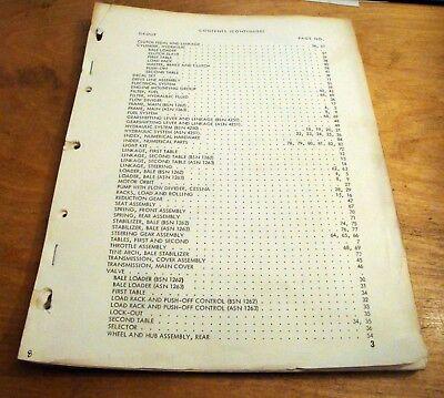 New Holland 1035 Bale Wagon Stackliner Parts Catalog Book List Manual Nh