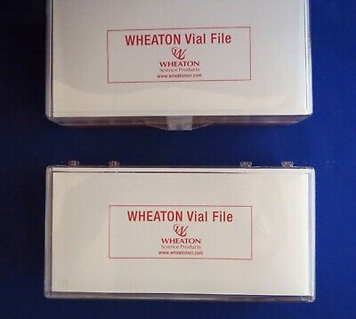 2 Wheaton M-t Vial File 40 Vial Storage Cases 4 X 10 For 4ml Vials 228780