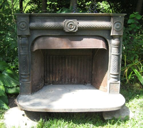 Antique Portland ME Foundry Cast Iron Wood Franklin Stove