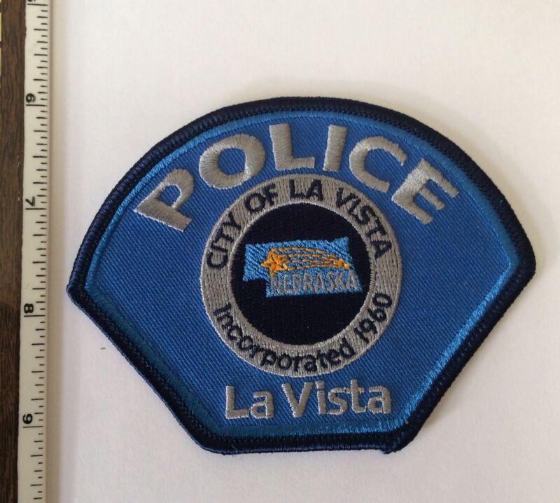 La Vista Nebraska Police Shoulder Patch  Light Blue