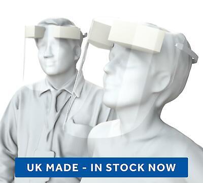 PPE Face Visor Full Shield Mask Anti Fog PVC Protective Safety Barrier Plastic