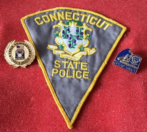 Connecticut State Police 2003 100th Anniversary uniform pin and 2000 OPSAIL PIN