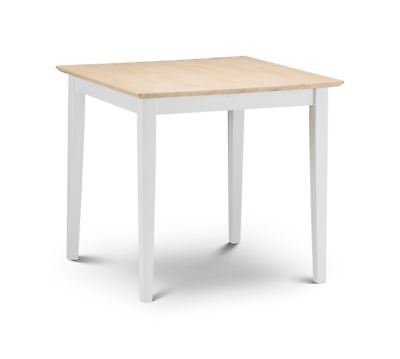 Julian Bowen Rufford Square Dining Ivory Off White Extending Solid Wood Table