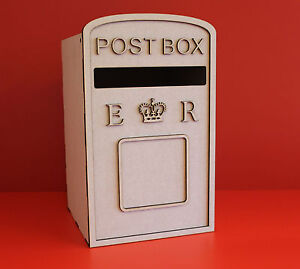 Mdf post box kit, Birthday and wedding cards post box , unpainted kit