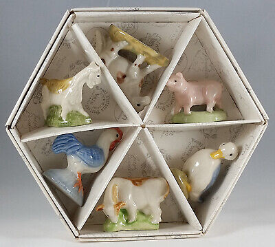 WADE, WHIMSIES SET 5, 2003 FARMYARD SET OF 6 WITH BOX