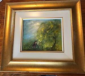 David Boyd 'Child at the Wattletree' Oil Painting 23x27cm Framed Hobart CBD Hobart City Preview