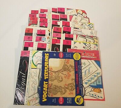 Vintage Lot of 27 Vogart, Hot Iron Transfers, Iron On Transfer, Towels Crafts