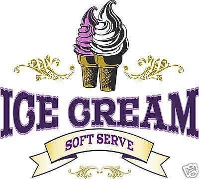 Ice Cream Soft Serve Decal 24 Concession Food Truck Cart Restaurant Vinyl Menu