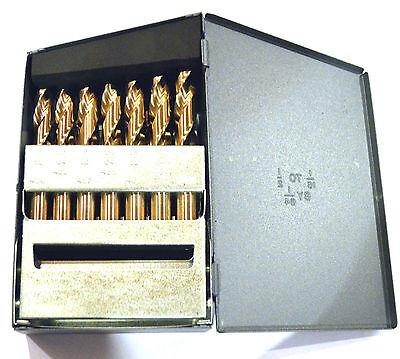 """Stubby Length Cobalt Drill Bit 29 Piece Set 1/16 - 1/2"""" RMT 95090877"""