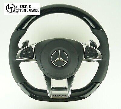 LE TEF® Esche Schwarz Glänzend Lenkrad für Mercedes-Benz AMG W205 W222 C217 A217
