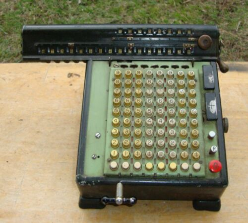 Monroe Mechanical Adding Machine Calculator with Cord