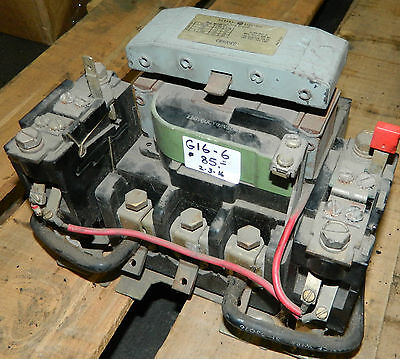 General Electric Size 3 Motor Starter, CR106E0, 110V Coil, 50 HP Cap @ 440V Used