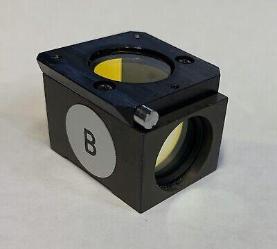 Nikon Blue B Fluorescence Filter Cube Microscope Diaphot Optiphot Labophot